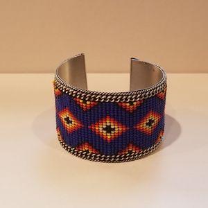 "Beaded Cuff Bracelet - 1.75"""